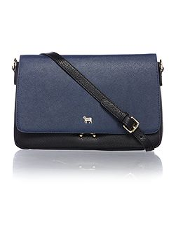Pacific lock black and navy crossbody bag