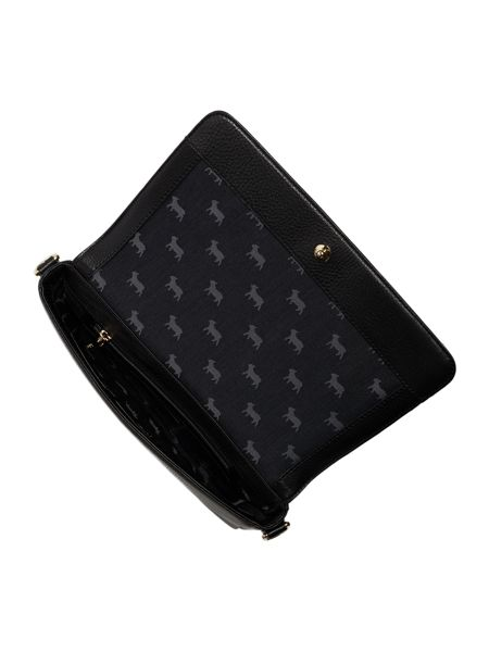 Lamb 1887 Pacific lock black and navy crossbody bag