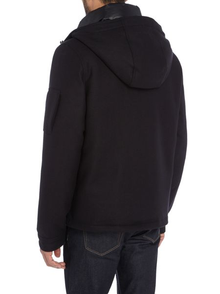 PS By Paul Smith Textured wool hooded bomber jacket