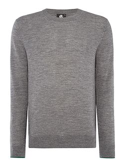 Merino knitted tipped cuff sleeve jumper