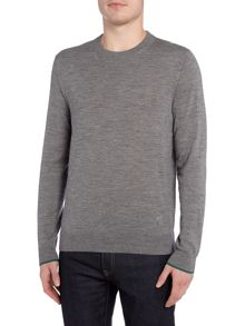 PS By Paul Smith Merino knitted tipped cuff sleeve jumper