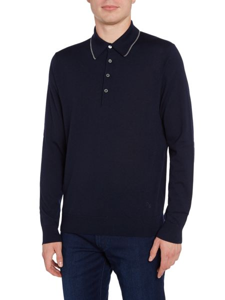 PS By Paul Smith Merino long-sleeve tipped roll neck jumper