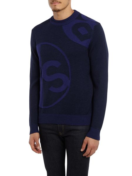 PS By Paul Smith All over PS logo knitted jumper