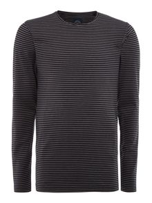 Lindbergh Long sleeve raw edge tee