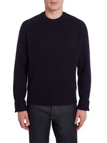 PS By Paul Smith Suede shoulder detail knitted jumper