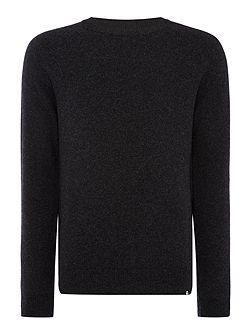 Lambswool knitted crew neck jumper