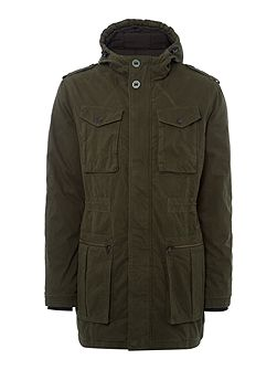Offshore hd long padded jacket