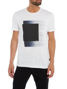 Calvin Klein Jace blurred lines placement print tee