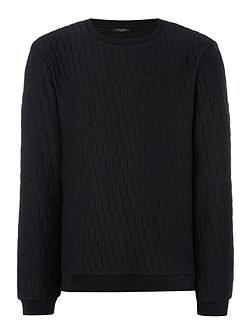 Kayo shifted boxes jacquard sweatshirt