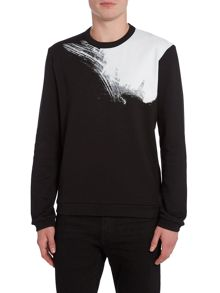 Calvin Klein Kaid placed brush stroke sweatshirt