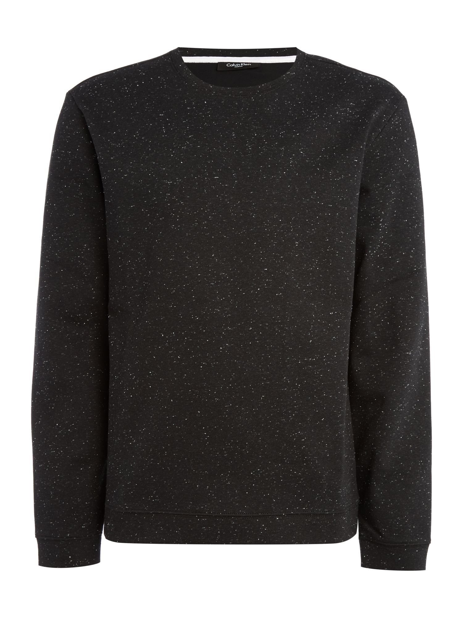 Men's Calvin Klein Kanep coloured bonded neps sweatshirt, Black