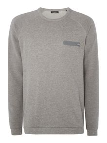 Calvin Klein Karil rib mix french terry sweatshirt