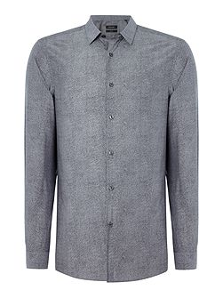 Winwood soft chambray dotted shirt