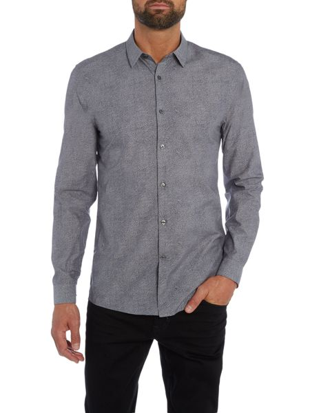 Calvin Klein Winwood soft chambray dotted shirt