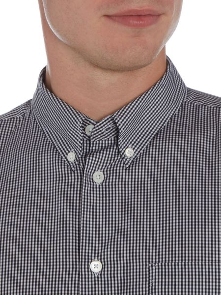 PS By Paul Smith Tailored fit long-sleeve gingham checked shirt