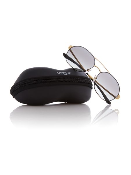 Vogue Matte black irregular VO4022S sunglasses