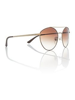 Matte brown irregular VO4023S sunglasses