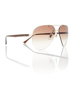 Gold pilot RB8058 sunglasses