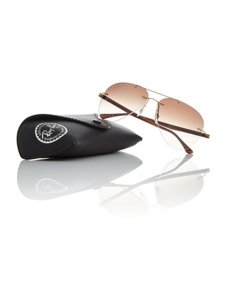 Ray-Ban Gold pilot RB8058 sunglasses