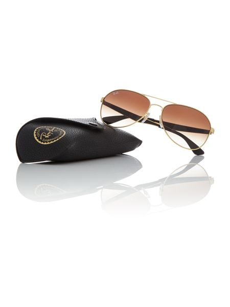 Ray-Ban Matte gold pilot RB3549 sunglasses