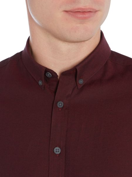 Lindbergh Long sleeve oxford shirt