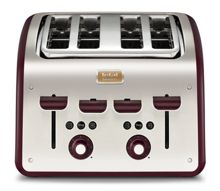 Tefal Maison 4 Slice Toaster, Pomegranate Red