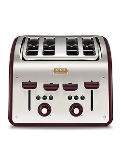 Maison 4 Slice Toaster, Pomegranate Red