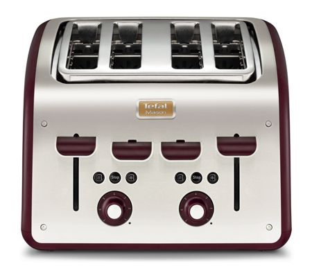 Tefal Maison 4 Sice Toaster, Pomegranate Red