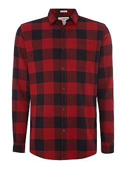 Cotton Checked Long Sleeve Shirt