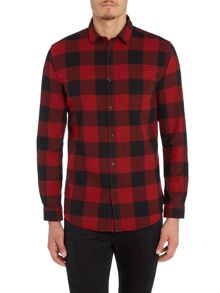Jack & Jones Cotton Checked Long Sleeve Shirt