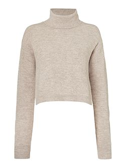 Long Sleeved Roll Neck Jumper with Shirt