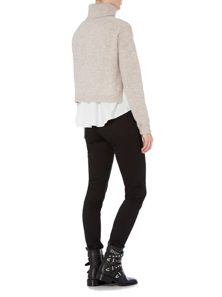 Bardot Long Sleeved Roll Neck Jumper with Shirt