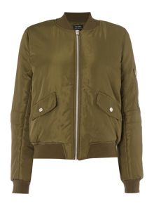 Bardot Long Sleeved Zip Up Bomber Jacket