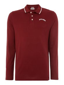 Jack & Jones Cotton Long-Sleeve Polo Shirt
