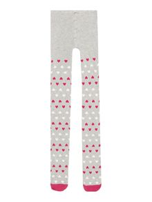 Benetton Girls Heart Patterned Tights