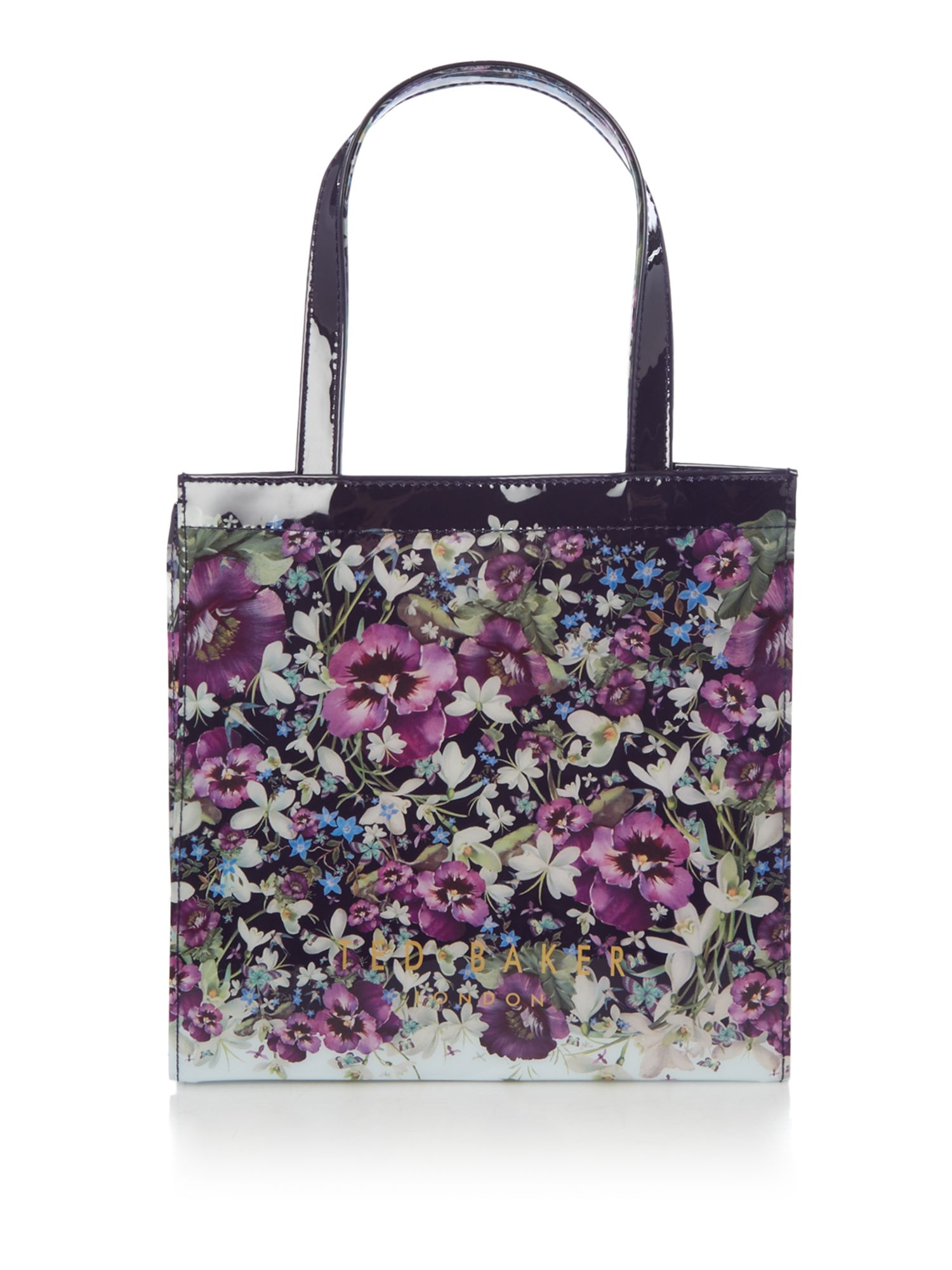 Ted Baker Mascon small floral tote bag Navy