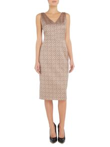 Max Mara EXPLOIT sleeveless micro floral jaquard dress