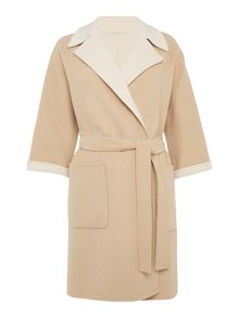 Max Mara HOBBY wool coat with belt and collar