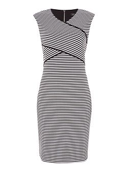 Knit cross overfront dress
