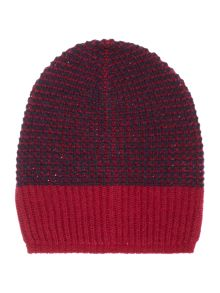 Benetton Girls Stripe Knitted Beanie