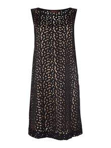 Max Mara GIROTTA sleeveless textured crew neck shift dress