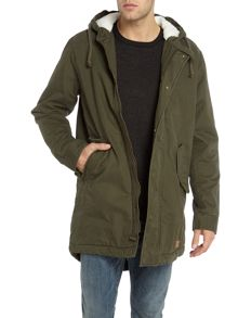 Jack & Jones Cotton Zip-Through Parka Jacket
