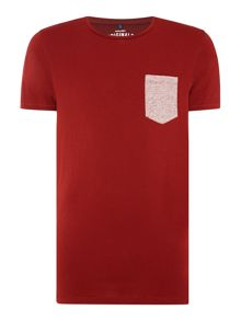 Jack & Jones Cotton Marl-Pocket Crew-Neck T-shirt