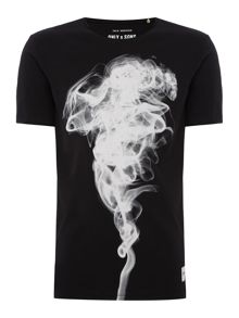 Only & Sons Cotton Smoke-Graphic T-shirt