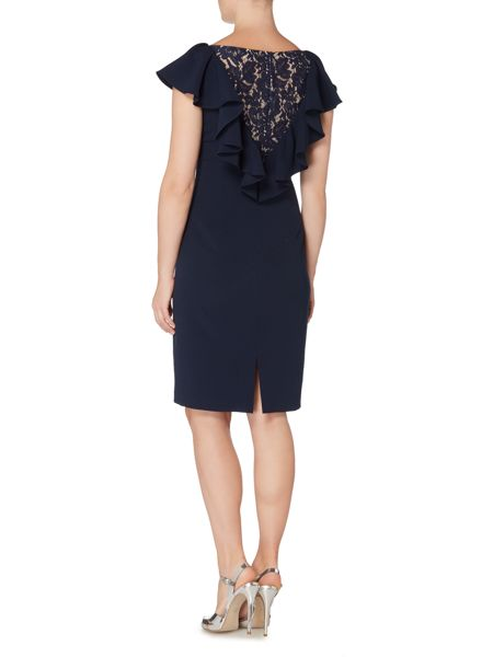 Eliza J Lace back dress with ruffle