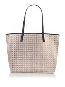 Max Mara Poisson printed shopper bag