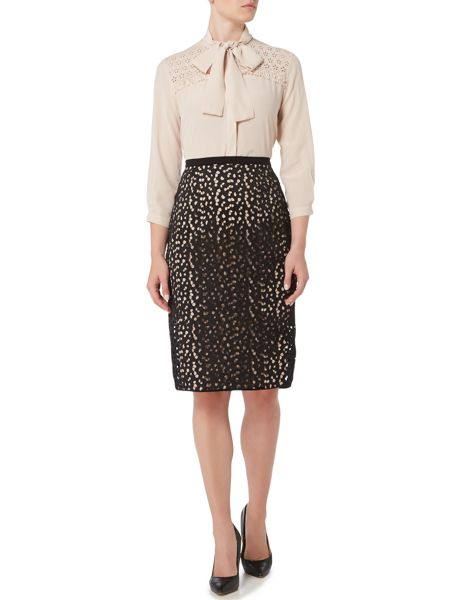 Max Mara MANILA textured lace pencil skirt