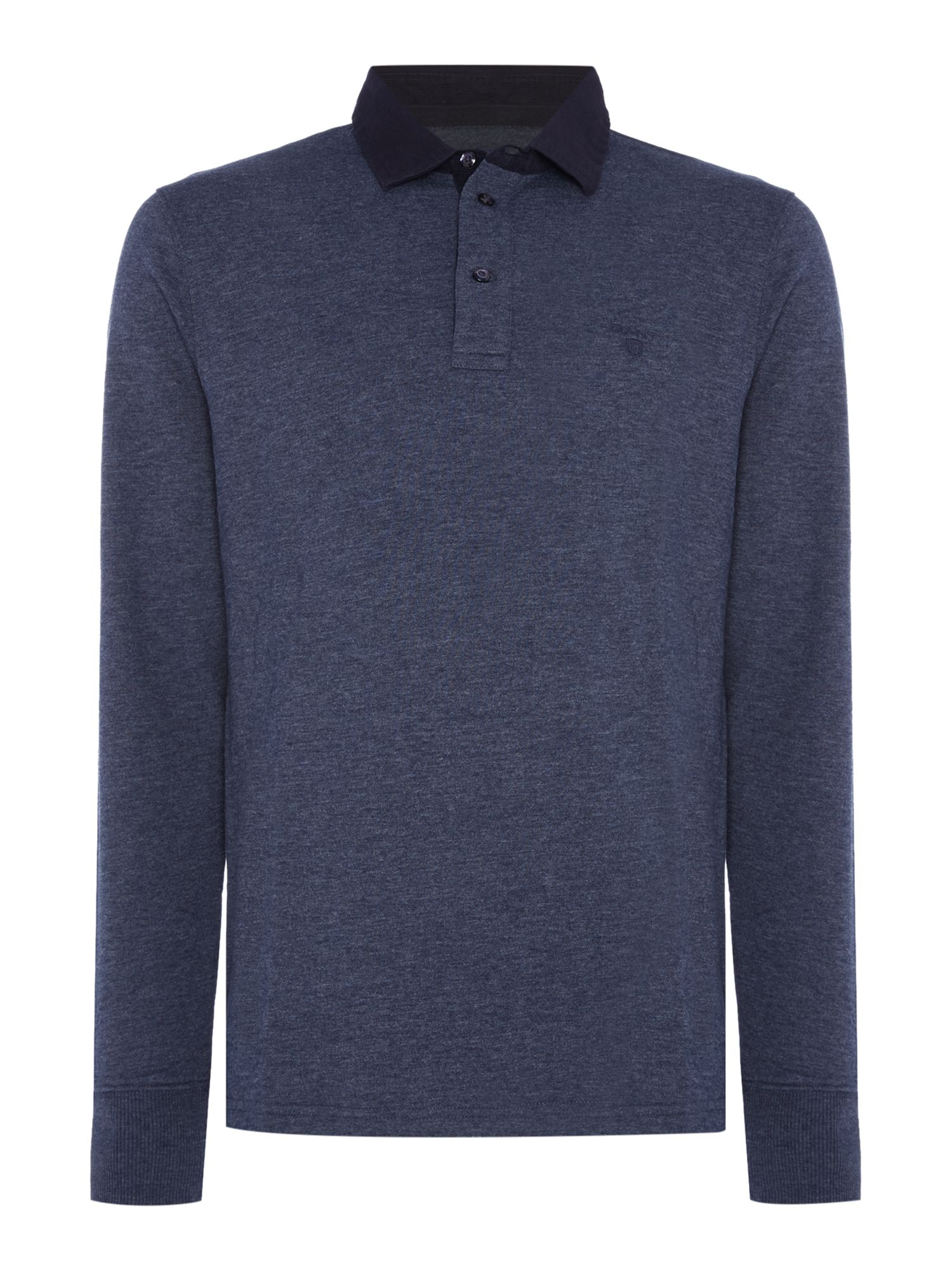 Men's Gant Long-Sleeve Plain Rugby, Blue