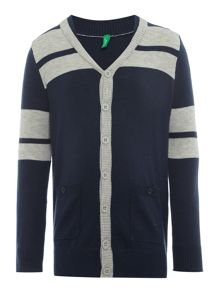 Benetton Boys Contrast Stripe Cardigan