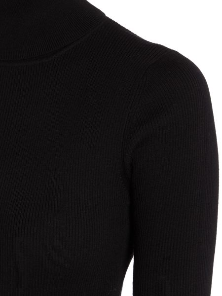 Repeat Cashmere Shoer sleeve roll neck jumper